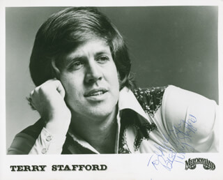 TERRY STAFFORD - AUTOGRAPHED INSCRIBED PHOTOGRAPH