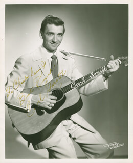 CARL SMITH - AUTOGRAPHED INSCRIBED PHOTOGRAPH