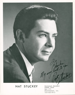 NAT STUCKEY - AUTOGRAPHED INSCRIBED PHOTOGRAPH