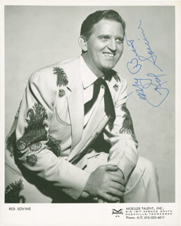 RED SOVINE - AUTOGRAPHED SIGNED PHOTOGRAPH