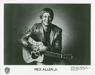 REX ALLEN JR. - AUTOGRAPHED INSCRIBED PHOTOGRAPH