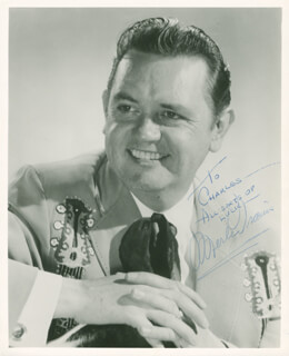MERLE TRAVIS - AUTOGRAPHED INSCRIBED PHOTOGRAPH