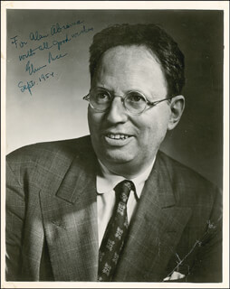 ELMER RICE - AUTOGRAPHED INSCRIBED PHOTOGRAPH 09/1954