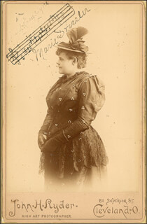 MARIE DRESSLER - ANNOTATED MUSIC QUOTATION ON PHOTOGRAPH