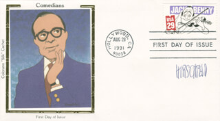 AL HIRSCHFELD - FIRST DAY COVER SIGNED