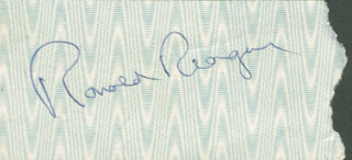 PRESIDENT RONALD REAGAN - TICKET SIGNED CIRCA 1978