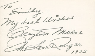 Autographs: JAY TONTO SILVERHEELS - COLLECTION WITH CLAYTON THE LONE RANGER MOORE