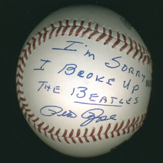 PETE ROSE - ANNOTATED BASEBALL SIGNED