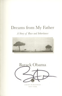 PRESIDENT BARACK H. OBAMA - BOOK SIGNED