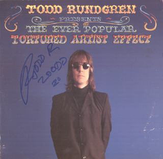 TODD RUNDGREN - RECORD ALBUM COVER SIGNED