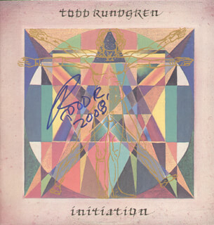 TODD RUNDGREN - RECORD ALBUM COVER SIGNED 2006