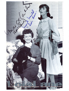 NOEL NEILL - COMPOSITE PHOTOGRAPH SIGNED CO-SIGNED BY: MARGOT KIDDER
