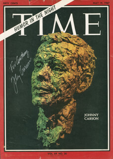JOHNNY CARSON - MAGAZINE COVER SIGNED