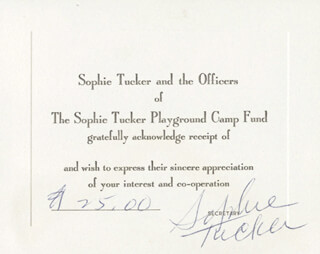 SOPHIE TUCKER - COLLECTION 1953