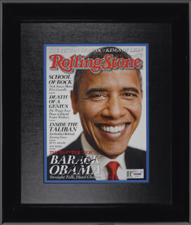 PRESIDENT BARACK H. OBAMA - MAGAZINE COVER SIGNED