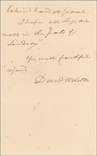 DANIEL WEBSTER - AUTOGRAPH LETTER SIGNED 06/12/1842
