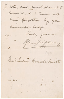 HENRY M. STANLEY - AUTOGRAPH LETTER FRAGMENT SIGNED