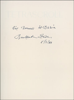 BUCKMINSTER FULLER - INSCRIBED BOOK SIGNED 05/07/1983