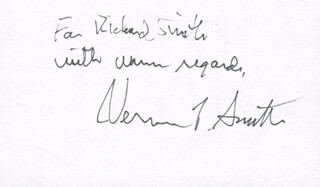VERNON L. SMITH - INSCRIBED SIGNATURE