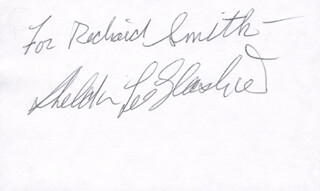 Autographs: SHELDON LEE GLASHOW - INSCRIBED SIGNATURE