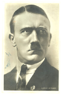 Autographs: ADOLF DER FUHRER HITLER - PICTURE POST CARD SIGNED
