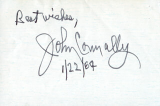 Autographs: JOHN B. CONNALLY JR. - AUTOGRAPH SENTIMENT SIGNED 01/22/1964