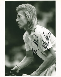 MARTINA NAVRATILOVA - AUTOGRAPHED INSCRIBED PHOTOGRAPH