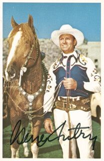 GENE AUTRY - PICTURE POST CARD SIGNED