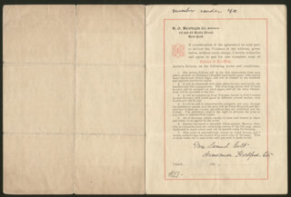 ELIZABETH COLT - DOCUMENT SIGNED