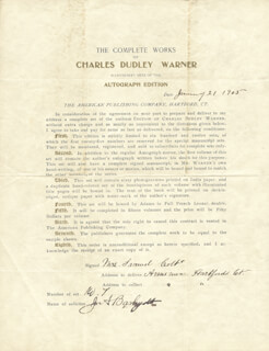 Autographs: ELIZABETH COLT - DOCUMENT SIGNED 01/21/1905