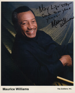 MAURICE WILLIAMS - AUTOGRAPHED SIGNED PHOTOGRAPH