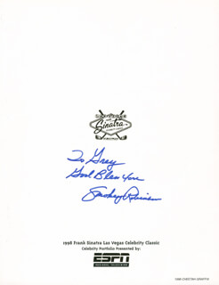 SMOKEY ROBINSON - INSCRIBED PROGRAM COVER SIGNED