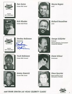 SMOKEY ROBINSON - PROGRAM PAGE SIGNED