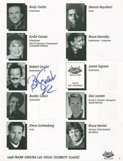 ROBERT GOULET - PROGRAM PAGE SIGNED