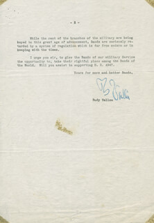 RUDY VALLEE - TYPED LETTER SIGNED 03/23/1937