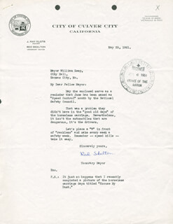 RED SKELTON - TYPED LETTER SIGNED