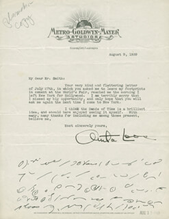ANITA LOOS - TYPED LETTER SIGNED