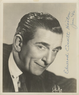 EDWARD EVERETT HORTON - AUTOGRAPHED SIGNED PHOTOGRAPH 01/1946