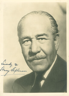 HENRY STEPHENSON - AUTOGRAPHED SIGNED PHOTOGRAPH