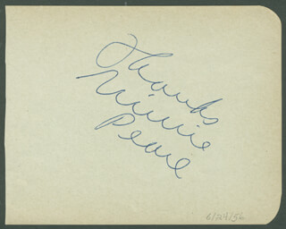 MINNIE PEARL - AUTOGRAPH SENTIMENT SIGNED