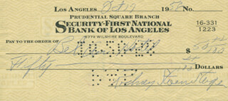 ROD STEIGER - AUTOGRAPHED SIGNED CHECK 10/17/1958