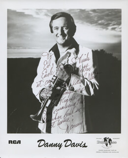 DANNY DAVIS - AUTOGRAPHED INSCRIBED PHOTOGRAPH