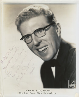 CHARLIE DORNAN - AUTOGRAPHED INSCRIBED PHOTOGRAPH