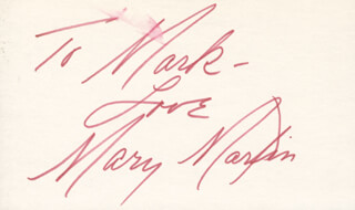 MARY MARTIN - AUTOGRAPH NOTE SIGNED