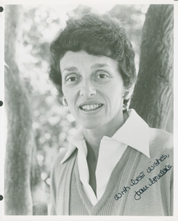 JOAN (MRS. WALTER) MONDALE - AUTOGRAPHED SIGNED PHOTOGRAPH
