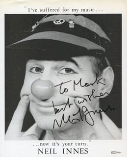 NEIL INNES - AUTOGRAPHED INSCRIBED PHOTOGRAPH