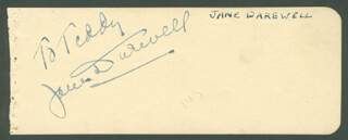 WILLIAM HOLDEN - INSCRIBED SIGNATURE CO-SIGNED BY: JANE DARWELL