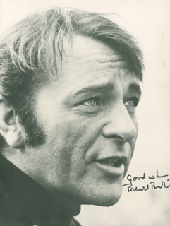RICHARD BURTON - AUTOGRAPHED SIGNED PHOTOGRAPH