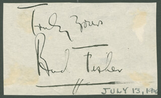 BUD FISHER - AUTOGRAPH SENTIMENT SIGNED CIRCA 1946