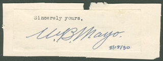 Autographs: WILLIAM B. MAYO - TYPED SENTIMENT SIGNED CIRCA 1930